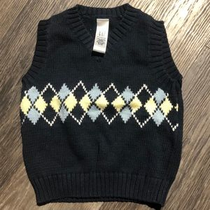 Baby Boy Gap Sweater Vest Sz 6-12 mth